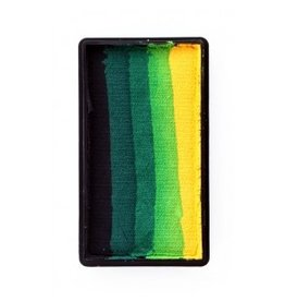 PXP PXP 28 gram splitcake block aBlack | dark green | green | light green | yellow