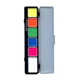 PXP PXP Special FX 5 x 3 and 1 x 6 gram neon colours palet with brush size 2