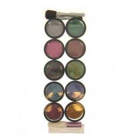 PXP PXP Glitterpoeder 10 kleuren+lijm+penseel+borstel 8gr