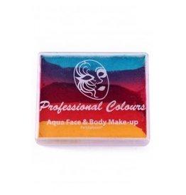 PXP PXP 50 gram splitcake Sea Green | Coral Pink | Light Red | Golden Orange | Yellow