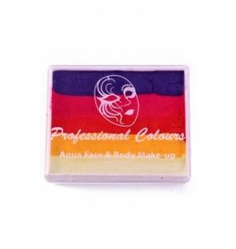 PXP PXP 50 gram splitcake Purple | Coral Pink | Golden Orange | Yellow | White