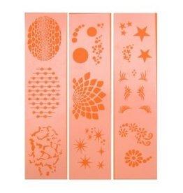 PXP PXP schminksjabloon 3 assortie 6.5 x 9.5 cm