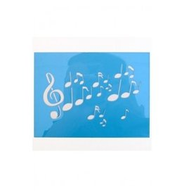 PXP PXP schminksjabloon 12x16 cm muzieknoten