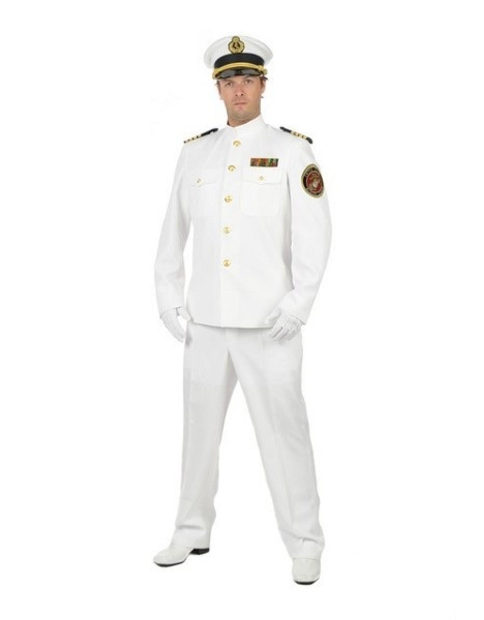 Thetru Officer and Gentleman Deluxe, Wit, Jas gevoerd-broek