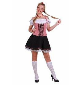 Thetru Tirolerjurk sexy ''Selina'', Rood-Wit