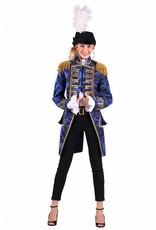 Thetru Jas dame ''Nelson brocaat'', Blauw-Zwart