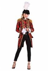 Thetru Jas dame ''Nelson brocaat'', Rood-Zwart