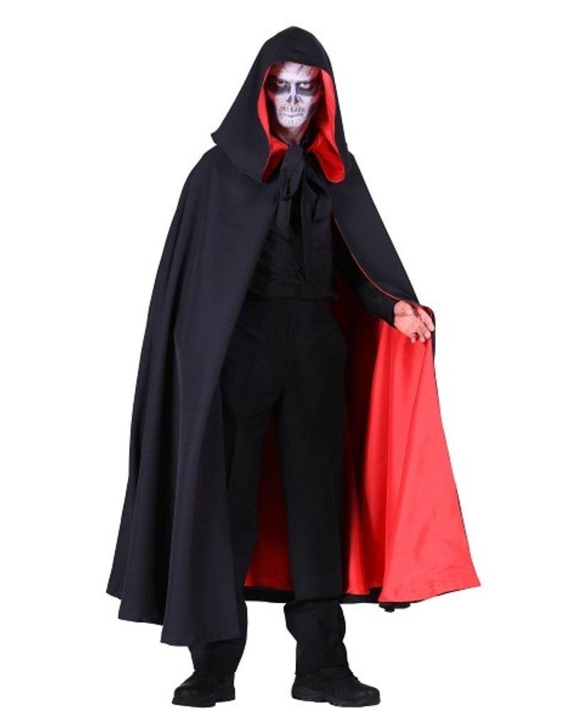 Thetru Halloween cape, Zwart-Rood, Deluxe