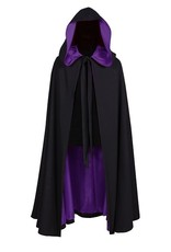 Thetru Halloween cape, Zwart-Paars, Deluxe