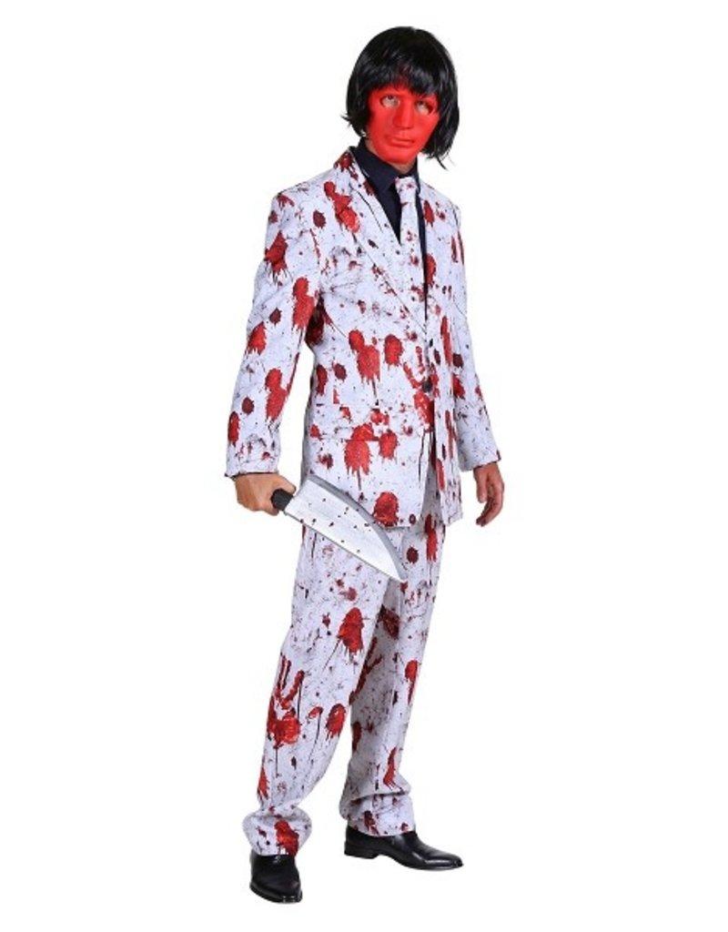 Thetru Crazy Halloween costume, Blood, Jas-broek-stropdas