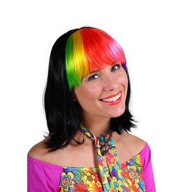 Thetru Pruik luxe Samantha, Mix van kleuren