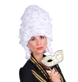 Thetru Pruik luxe Madame de Pompadour, Wit
