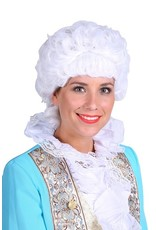 Thetru Pruik luxe Marie Antoinette, Wit, Hoge kwaliteit pruik-Verstelbaar