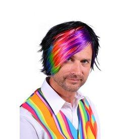 Thetru Pruik luxe Guido, Mix van kleuren