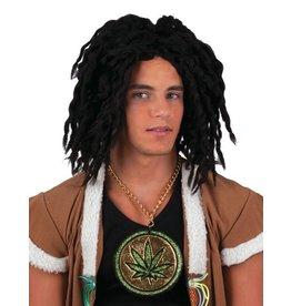 Funny Fashion Pruik Rasta Man zwart