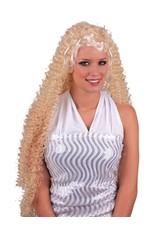 Funny Fashion Pruik Curly blond krullen