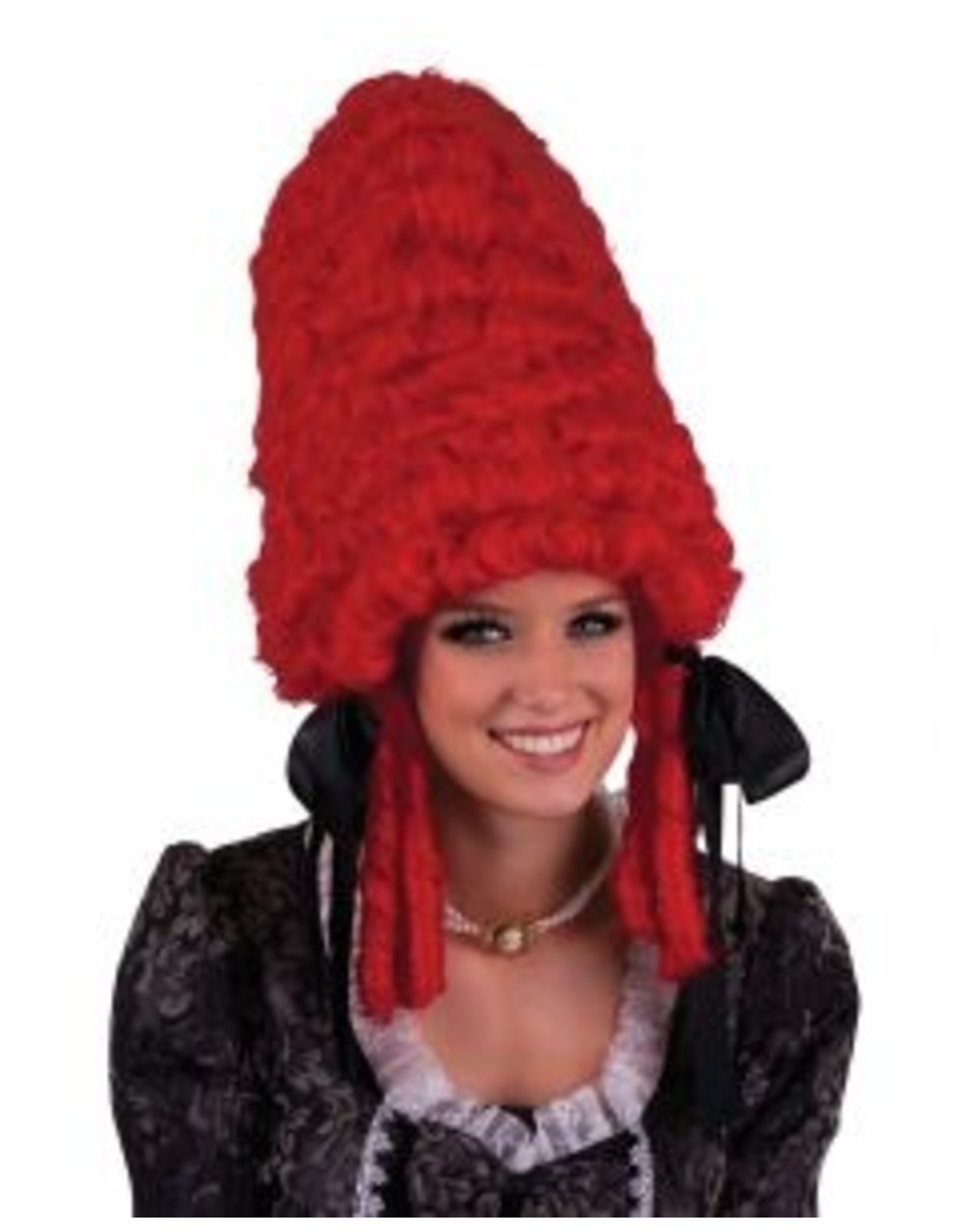 Funny Fashion Pruik Jolanda rood