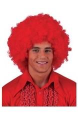 Funny Fashion Pruik Flower- Power rood