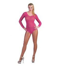 Funny Fashion Net body Ashley neon roze dames