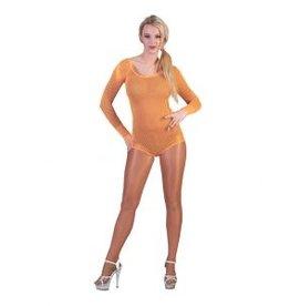 Funny Fashion Net body Ashley neon oranje dames