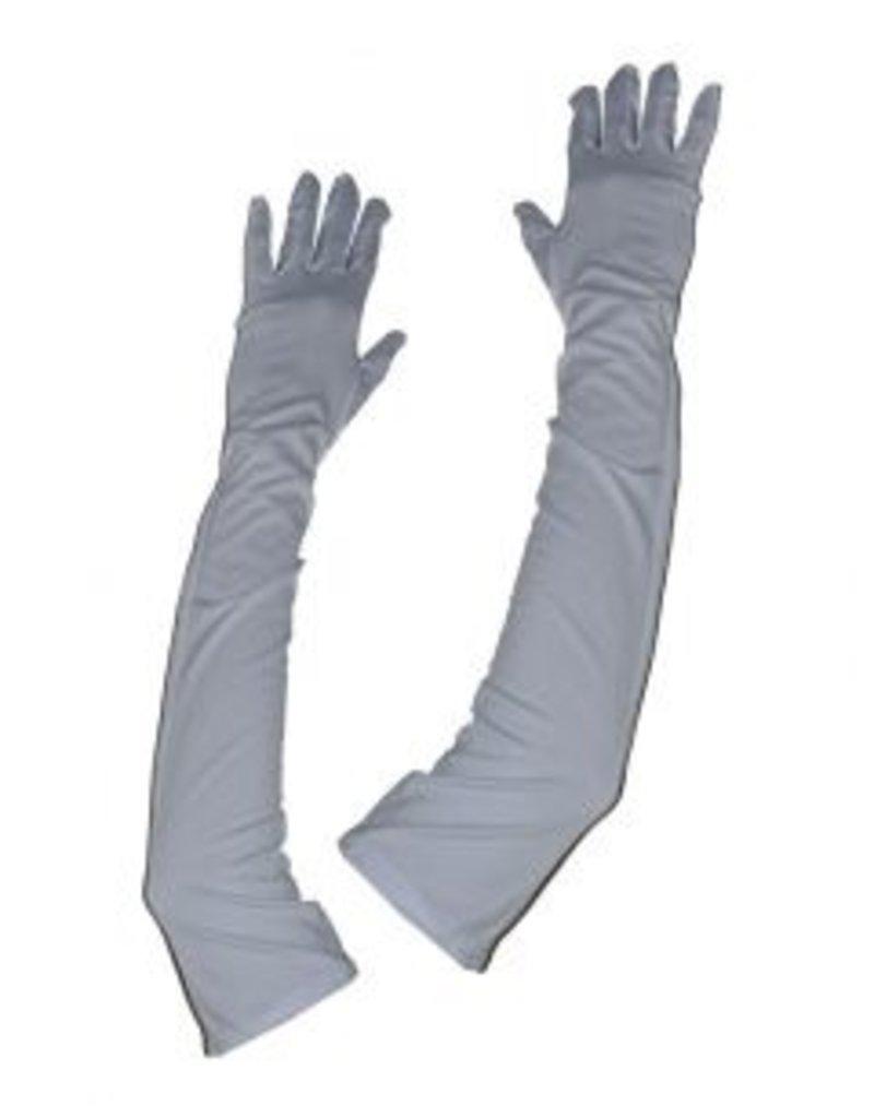 Funny Fashion Handschoenen Gloria lang wit