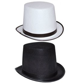 Funny Fashion Hoge hoed Zwart / Wit