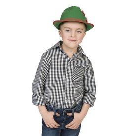 Funny Fashion Cowboyhemd Kind zwart/wit