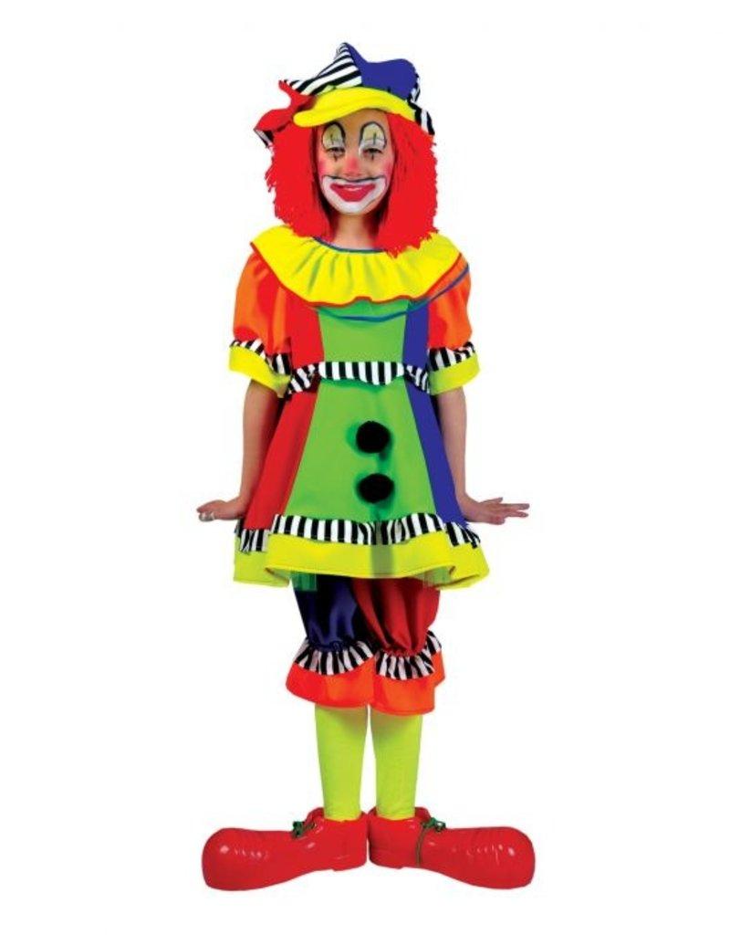Funny Fashion Clownspak Pierina kind meisje verkleedkleding