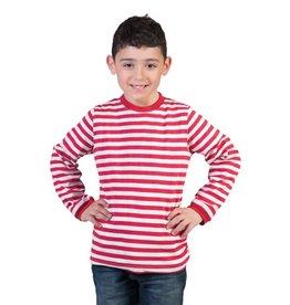 Funny Fashion Gestreepte trui rood wit kind
