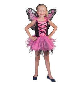 Funny Fashion Vlinder jurk kind roze