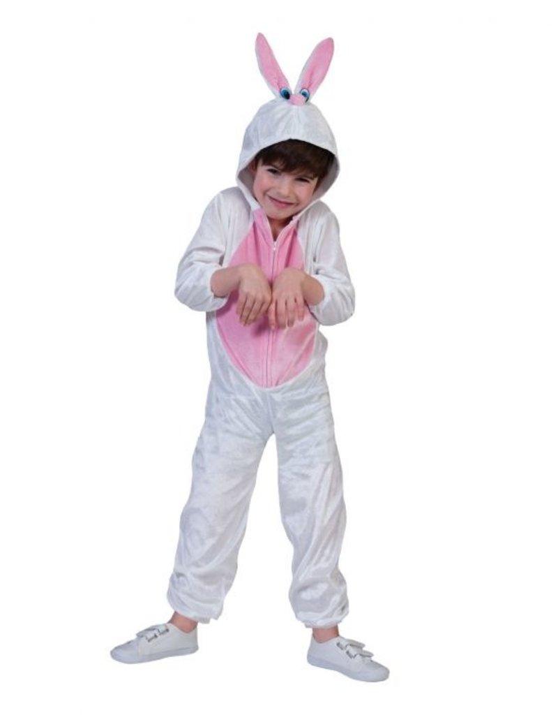 Funny Fashion Konijnen pak wit Bunny pluche kind
