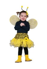 Funny Fashion Bijen rok kostuum met vleugels
