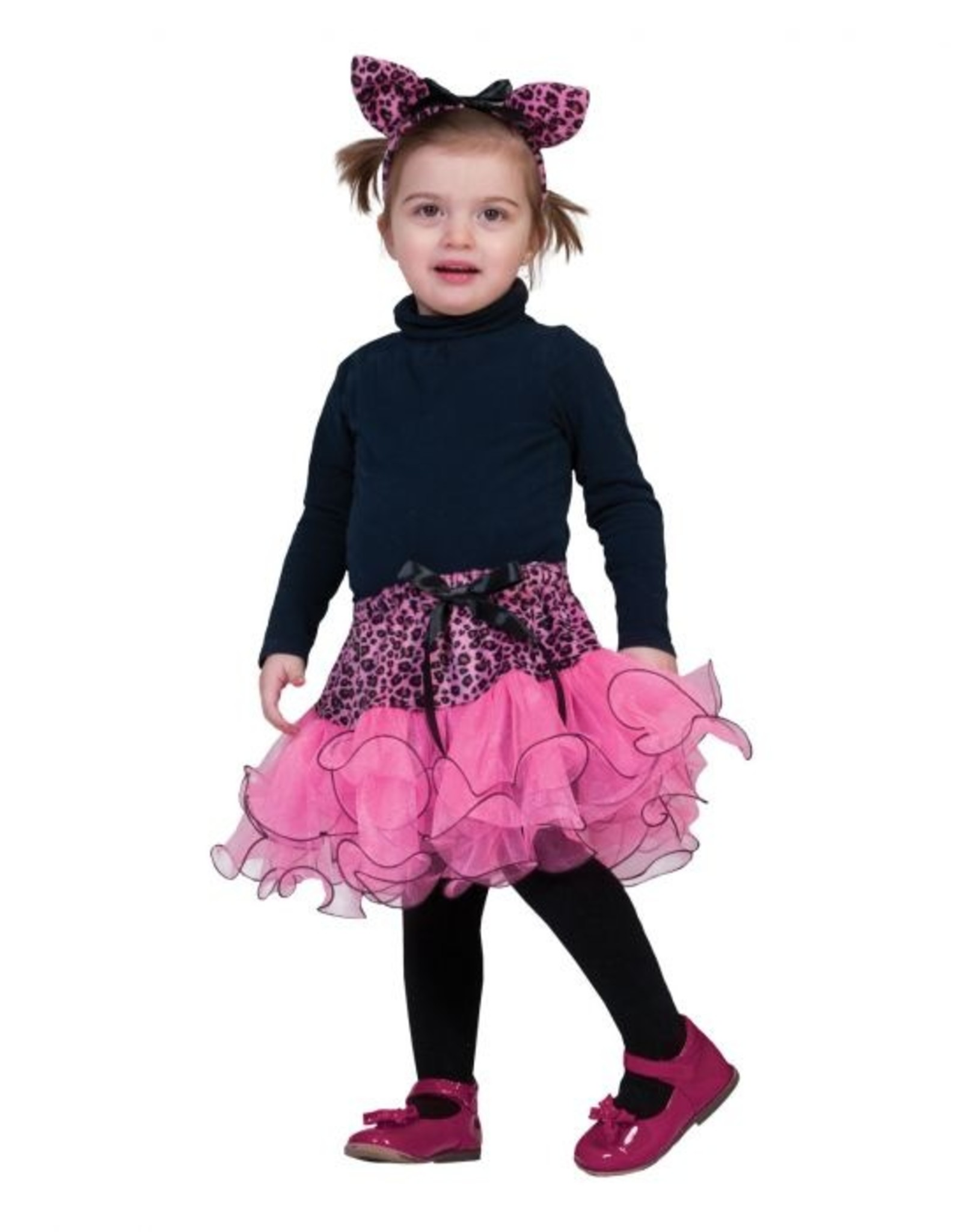 Funny Fashion Luipaard rok kostuum roze