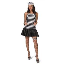 Funny Fashion Sexy gevangene kostuum Ellie dames