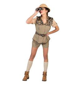 Funny Fashion Miss Safari kostuum dames