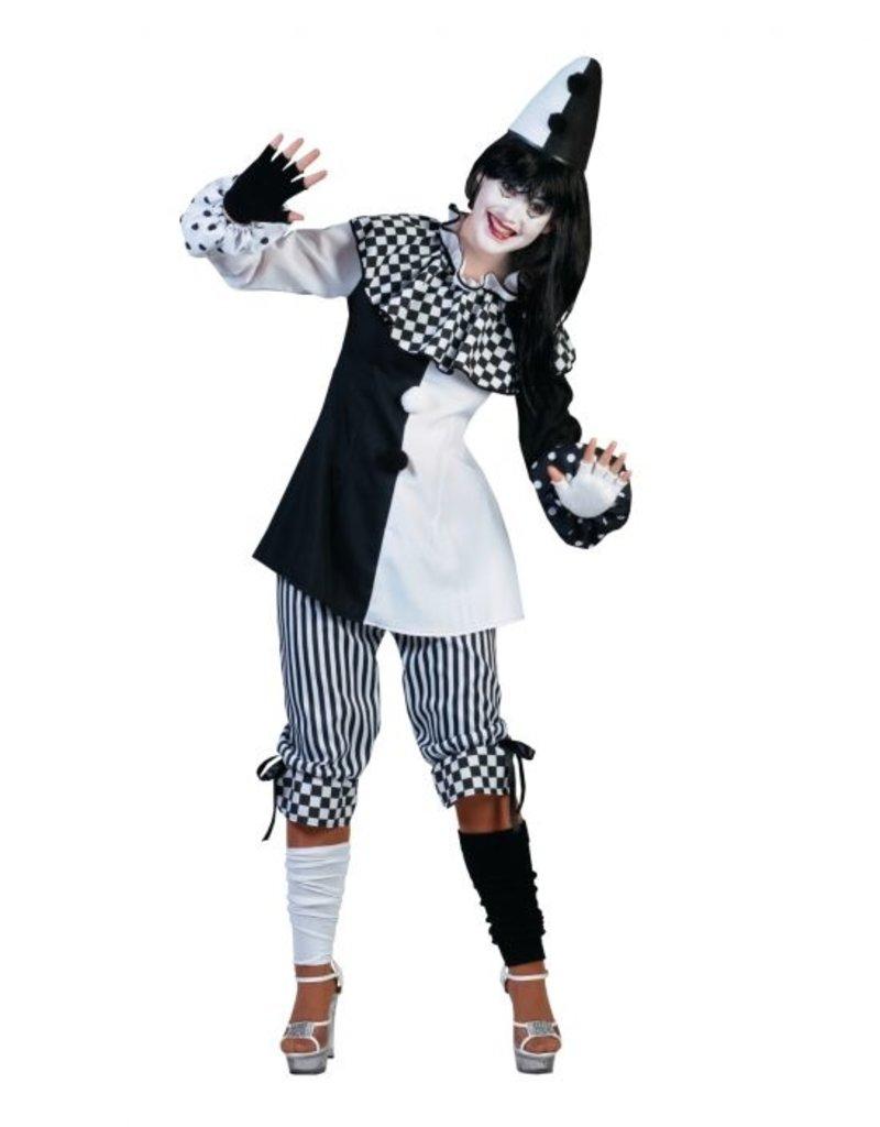 Funny Fashion Harlekijn kostuum dames