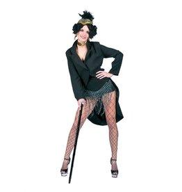 Funny Fashion Charleston kostuum jas Uschi zwart dames