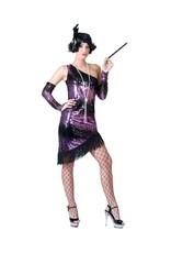 Funny Fashion Jurk Charleston zwart / paars dames
