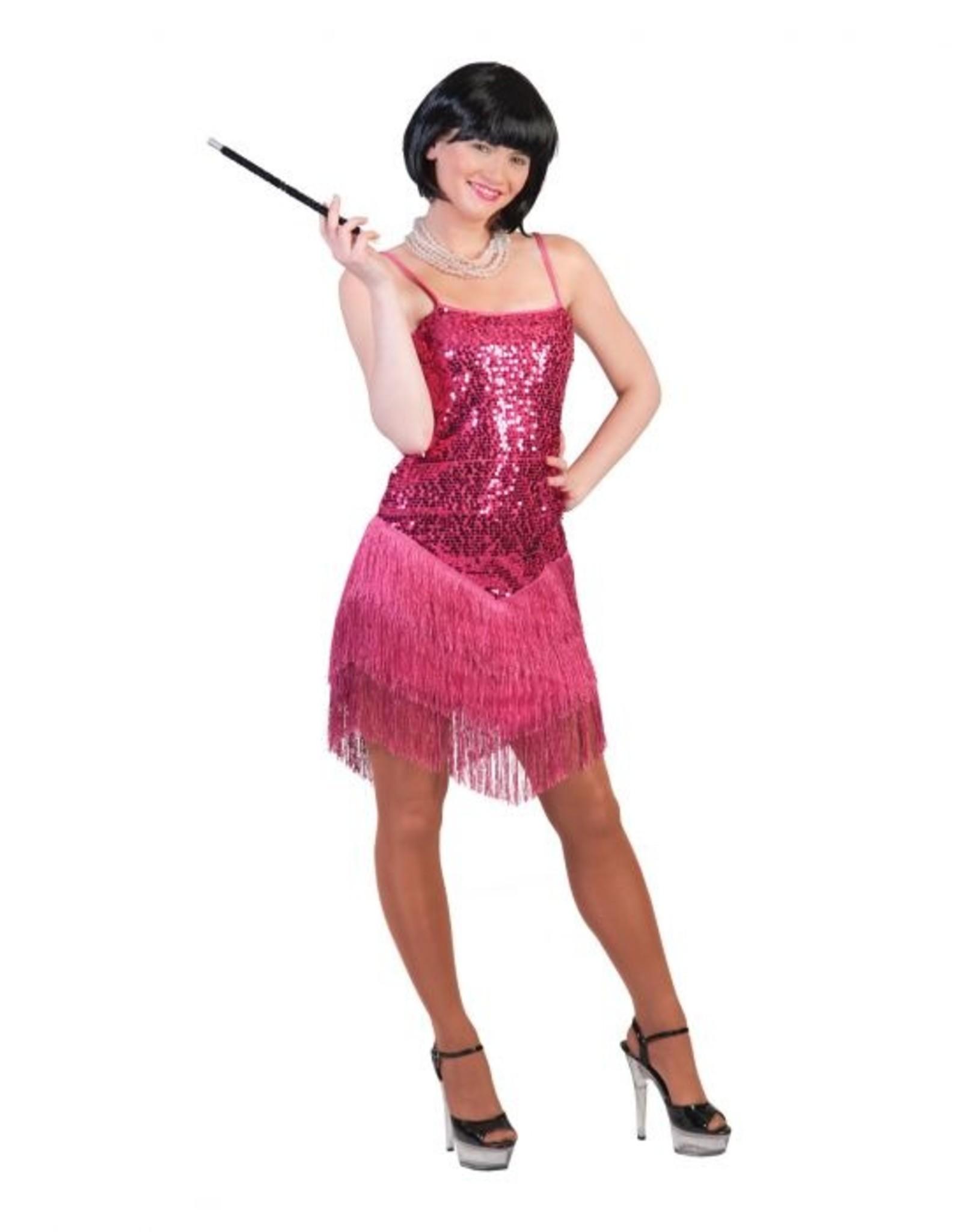 Funny Fashion Charleston roze jurk glamour dames