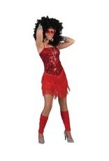 Funny Fashion Charleston jurk glamour rood dames
