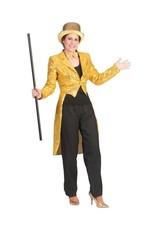 Funny Fashion Pailletten jas Sonja goud dames