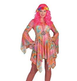 Funny Fashion Hippie jurk Fleur dames