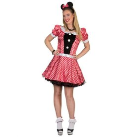 Funny Fashion Minnie mouse jurk Lulu kostuum dames