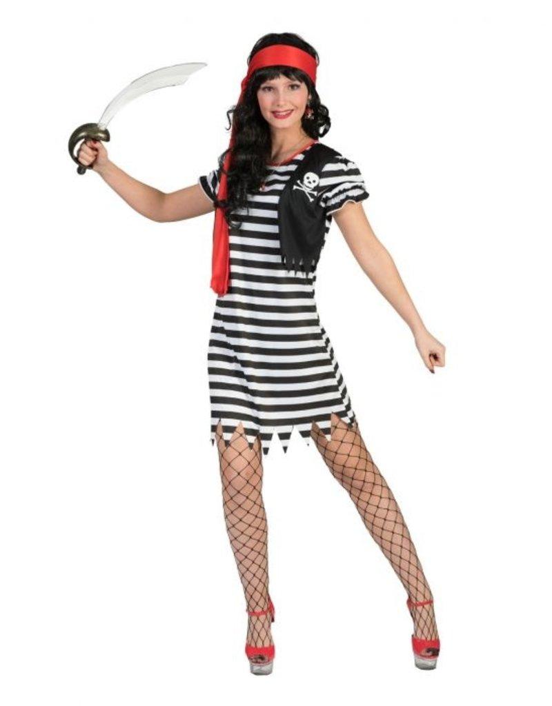 Funny Fashion Piraat kostuum Stefanie dames