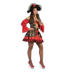 Funny Fashion Piraat kostuum Petty dames