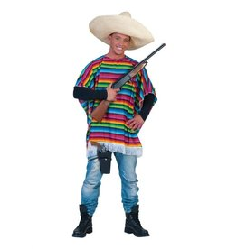 Funny Fashion Mexicaanse poncho Salvador dames heren