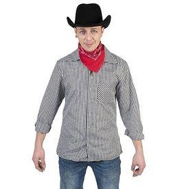 Funny Fashion Cowboyhemd zwart/wit