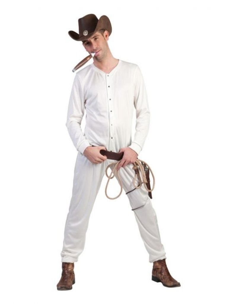 Funny Fashion Cowboy ondergoed overall Brandon wit heren