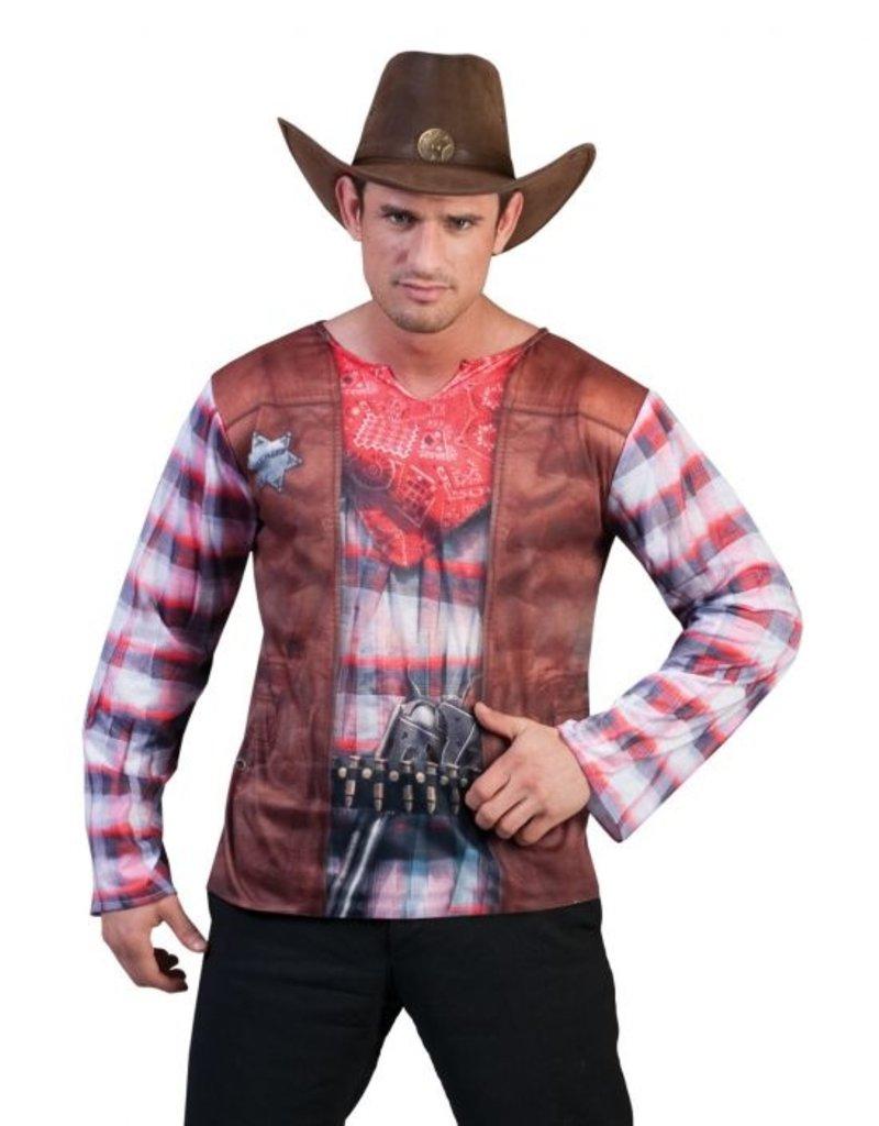 Funny Fashion Cowboy 3D-Shirt heren