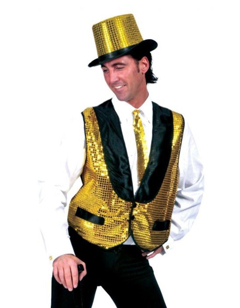 Funny Fashion Disco gilet goud heren